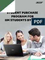 Acer - IIM Purchase Program