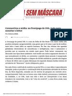 Coronavírus e Mídia_ Na Frontpage Do UOL, Tudo Para Assustar o Leitor – Mídia Sem Máscara