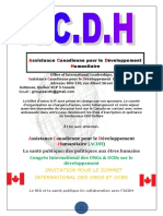 INFORMATION GENERALE ACDH EDITION 2020