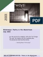 Waterways Poetry in the Mainstream Vol 22 no 7