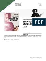 JTC - 20 Progressive Rock Licks - Rabea Massaad