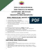 REQUISITOS PARA INSCRIPCIÓN 2018- 2019 (1).pdf