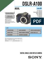 Sony Dslr-A100 Service Manual Level 2 Ver 1.6 2008.09 Rev-2 (9-852-130-37)