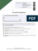 Iran-Tourist-visa-application