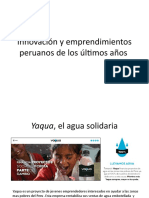 Innovación y emprendimientos peruanos de los últimos años