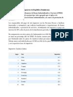 Impuestos de República Dominicana