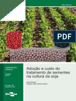 Adoção e custo do tratamento de sementes de soja