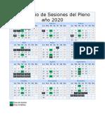 Calendario 2020 editable