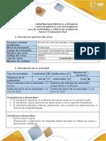 Guia de actividades y rúbrica de evaluación-Tarea 5-Evaluación final