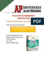 MONOGRAFIA PRIMER TRABAJO ACADEMICO TEC. DE LOS MATERIALES