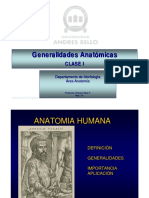 Clase Ia Generalidades Anatomicas