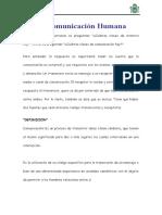 La Comunicación Humana_TRABAJO 02