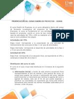 Presentación del curso Diseño de Proyectos2
