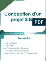 Conception d'un projet SIEM. La sécurité des systèmes d information