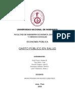 Planteamiento del Problema - Gasto público en Salud - Grupo 4