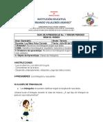 GUIA TALLER GEOMETRIA CLASES DE TRIANGULOS GRADO TERCERO SEDE EL RODEO LUZ MARY ARIZA CAICEDO LUNES 06 DE JULIO DE 2020