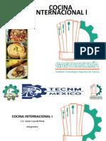 Recetario Cocina Internacional I