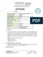 SILABO DE DIBUJO DE INGENIERIA 2019-1