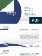 PROGRAMA DE CAPACITACION ASESOR COMERCIAL