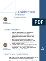 Seminar 7 - Creative Youth Ministry.pptx
