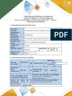 Guía de actividades y rúbrica de evaluación - Fase 2 - Observación Reflexiva.docx