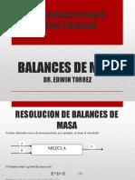 BALANCES DE MASA- PROBLEMAS