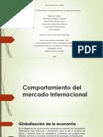 Comportamiento del mercado internacional..
