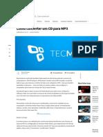 Como converter um CD para MP3 - TecMundo