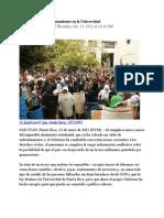 13-01-11 - Tesoro Complica Enfrentamiento en La Universidad