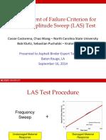 Castorena_Development of Failure Criterion for LAS Test