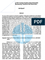 (31) Pengaruh EPS_ROI Dan ROE Terhadap Perubahan Harga Saham Pada an Sektor Manufacturing