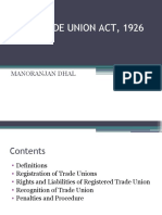 THE TRADE UNION ACT, 1926