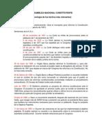 La Asamblea Nacional Constituyente (Cronología)