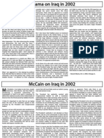 Obama vs. McCain on Iraq in 2002