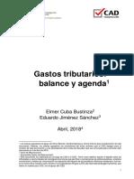 Gastos Tributarios Balance y Agenda