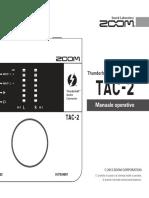 zoom tac2 manuale operativo italiano