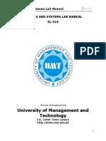 EL-315 Signals _ Systems Lab Manual