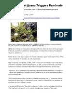 Doctors - Marijuana Triggers Psychosis - CBS