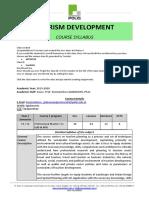 Tourism Development Course Syllabus, Spring 2020 - ENG [K. Giakoumis]