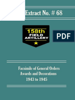 158th Field Artillery Official Extract No. 68
