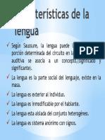 Características de la lengua