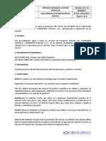 GO-P-01 PROCEDIMIENTO DE PRESTACIÓN DE SERVICIO