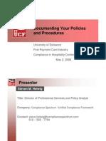 PCI Policies UoD 05022008