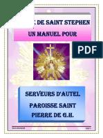 Manuel de serveur d'autel 1ère édition 2019 par N. Brandon. - COPIE FRANÇAISE