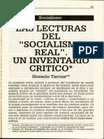 """Horacio Tarcus, """"Las lecturas del socialismo real"""