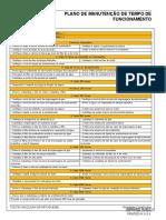 Escavadeira J. Deere 160G - Lista de Ítens Revisões