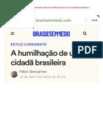 Brasil Sem Medo - A humilhação de uma cidadã brasileira