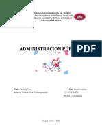 ADMINISTRACION PUBLICA TRABAJO