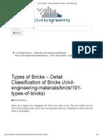 Types of Bricks – Detail Classification of Bricks - Civil Engineering