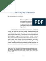 AS CONSTITUIÇÕES DE ANDERSON